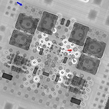 Übersichtsaufnahme, erstellt bei einer zerstörungsfreien Fehleranalyse der Dammert X-Ray GmbH