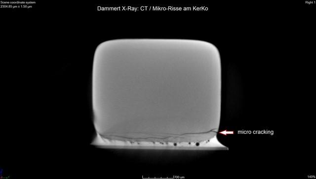 Micro-cracking im Keramik Kondensator (KerKo)