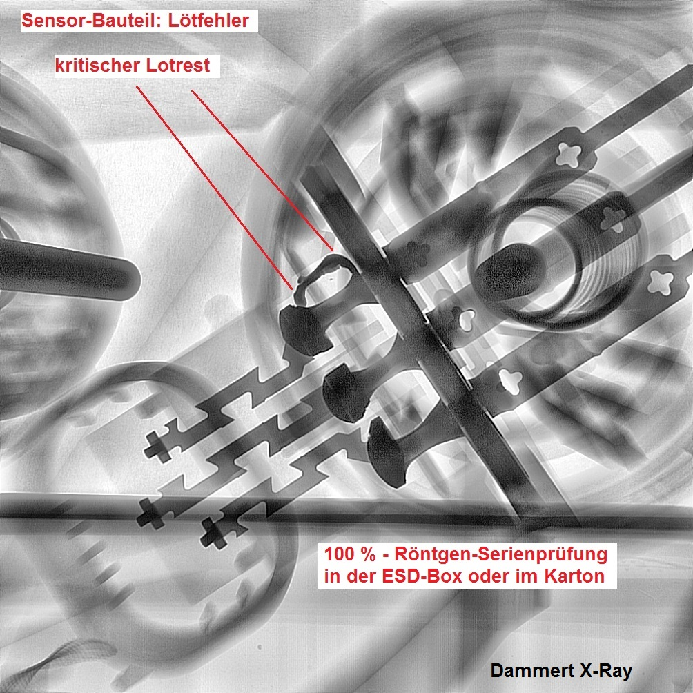 Zerstörungsfreie Lagerbereinigung mittels X-Ray Serienprüfung