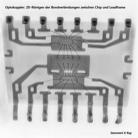 Röntgenanalyse Optokoppler (Bonddrähte_i.O.)