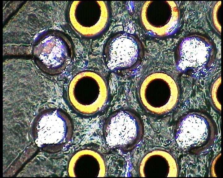 Black-Pad Effekt an einem PCB-Pad